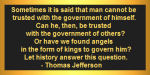 To Govern Him