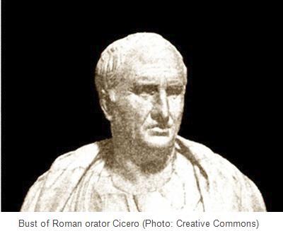Bust of Roman orator Cicero