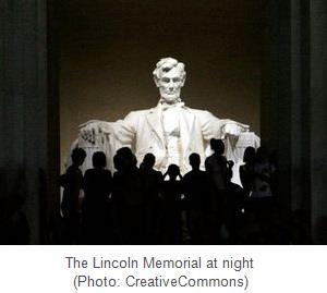 Lincoln Memorial, captioned