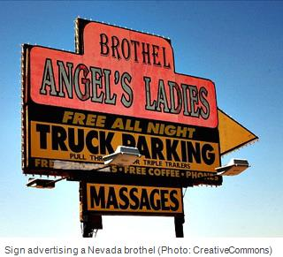 Nevada brothel sign photo