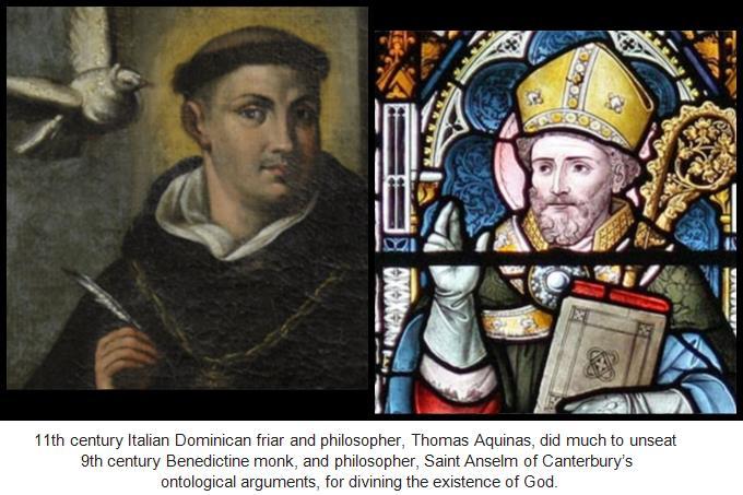 Aquinas and Anselm, captioned